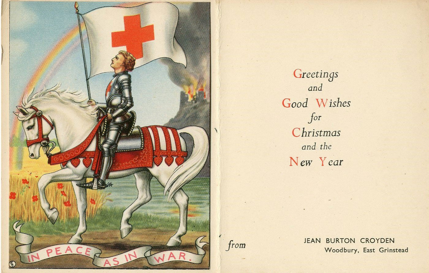 East Grinstead Museum – Christmas Greeting Card from Jean Burton Croyden