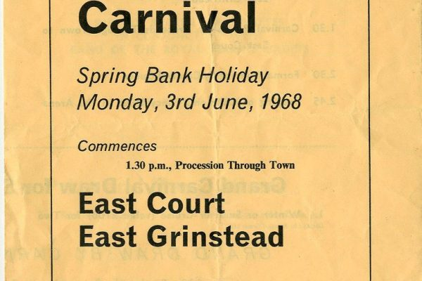 East Grinstead Museum - Lucky number programme for East Grinstead Carnival