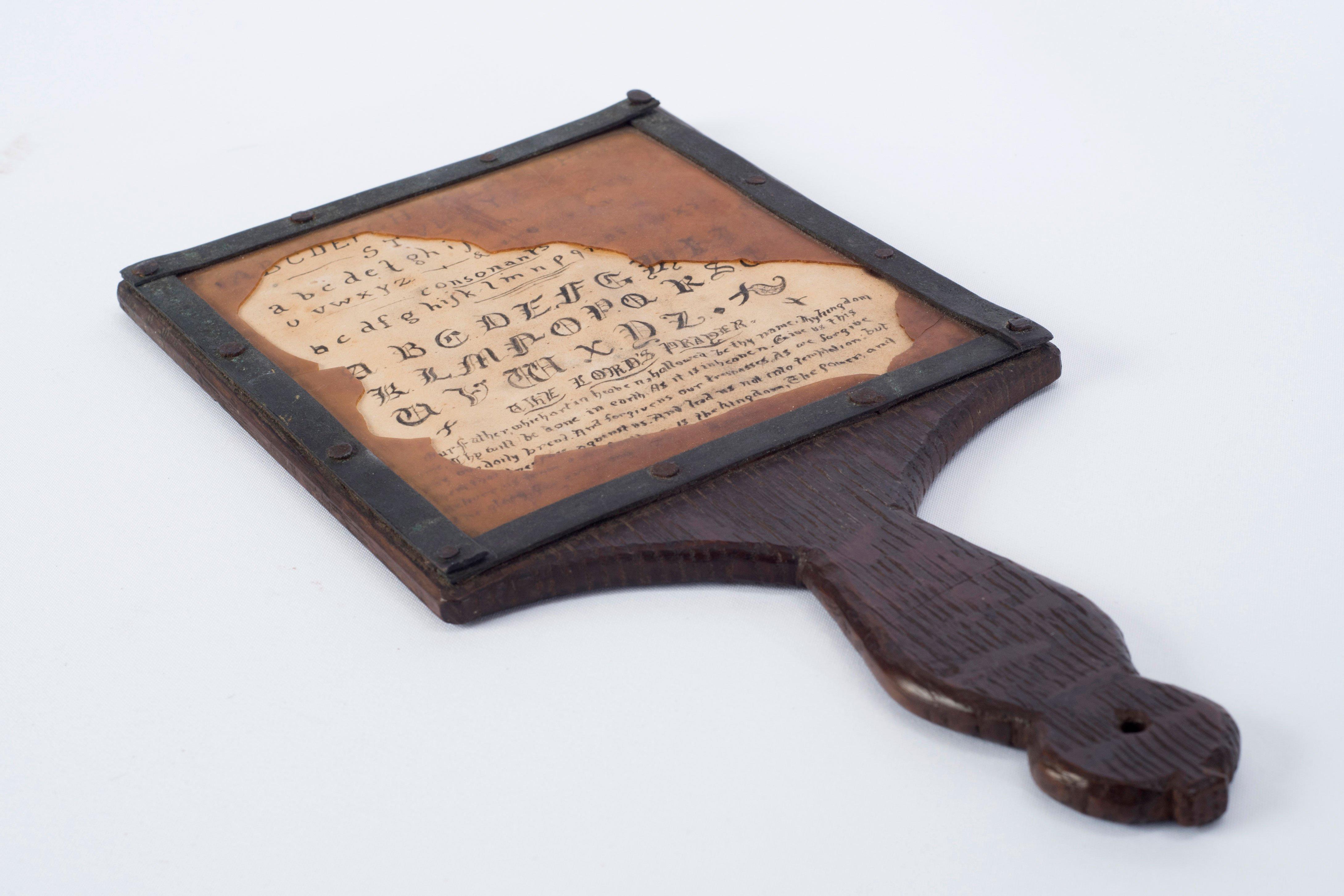 Alphabet hornbook – East Grinstead Museum